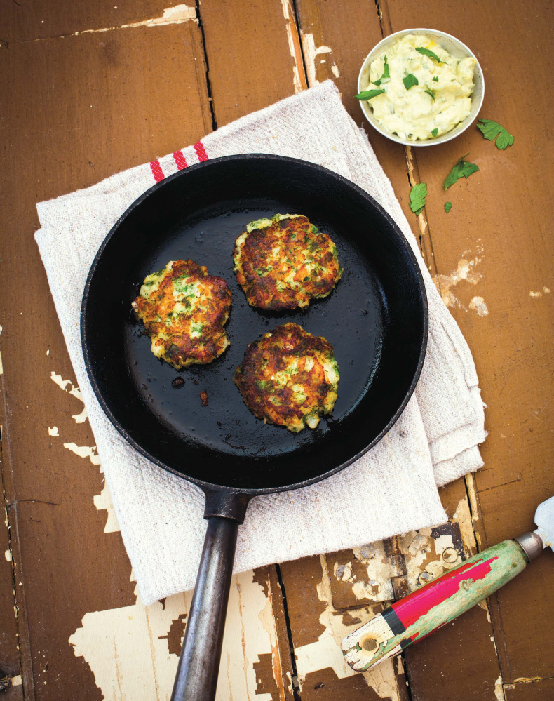 Fish cakes and remoulade sauce are an interesting twist on seafood.