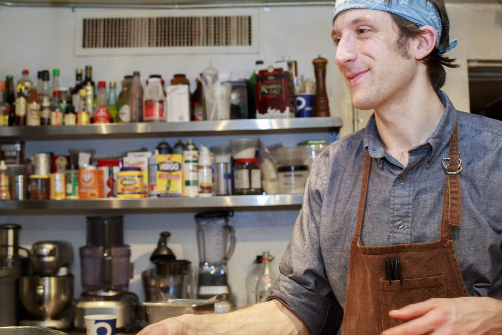 David Levi, chef and proprietor of Vinland restaurant in Portland, is the son of a Protestant mother and a Jewish father.   Press Herald file photo