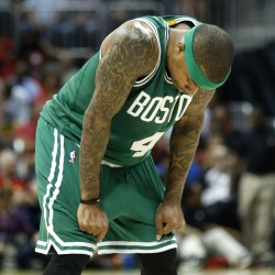 Isaiah Thomas and the rest of the Boston Celtics have to figure out how to get shots to drop, which may be the only way to have a chance against Atlanta, which has a 2-0 lead in their first-round series.