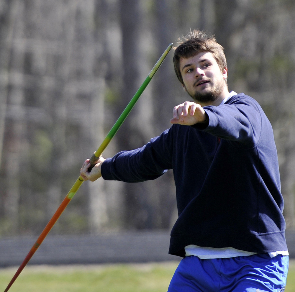 Jack Bouchard of York broke the Class B state record in the javelin last season, and this past winter won the indoor long jump state title as a No. 8 seed.