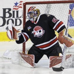 Goalie Mike McKenna, the only member of the Portland Pirates who also played with the team last season, hopes to extend his marvelous season into the playoffs. He had a 33-17-5 record with a 2.45 goals-against average.