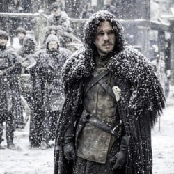 Kit Harington as the Lord Commander of the Night's Watch, Jon Snow, who may – or may not – be dead.