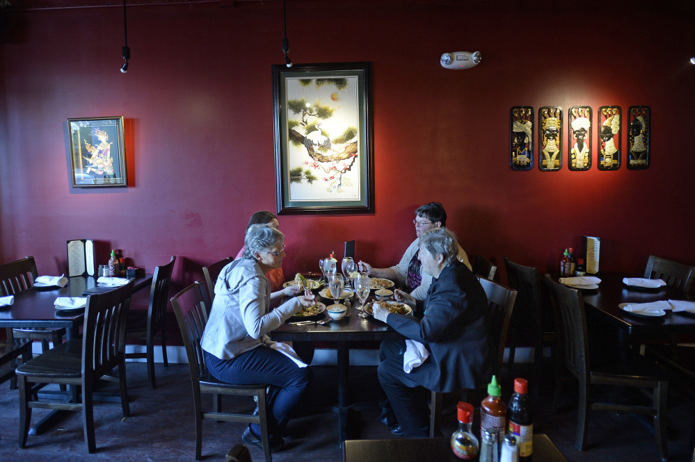 Customers dine out at Veranda Noodle House. Shawn Patrick Ouellette/Staff Photographer
