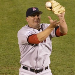 The wait for a World Series title ended for Boston when closer Keith Foulke fielded this ball in 2004 and tossed to first. Now Foulke works with Sox minor leaguers, teaching them how to adapt to the bullpen.