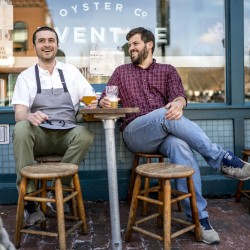Mike Wiley and Andrew Taylor at Eventide Oyster Co.