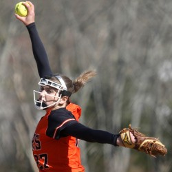 Kirsten Lebreux of Biddeford was dominant Friday as the Tigers improved to 3-1 with a 5-1 victory at home against South Portland. Lebreux struck out seven and walked one in a four-hitter.