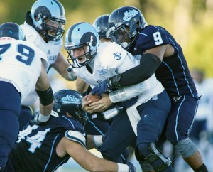 Westbrook's Trevor Bates, who finished a standout college career at the University of Maine last fall, was drafted Saturday by the Indianapolis Colts in the seventh round of the NFL draft.