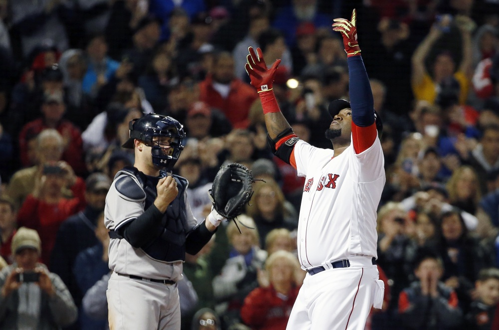 David Ortiz is 40 and playing his last season – and having the kind of start that any player of any age would love to have. Associated Press