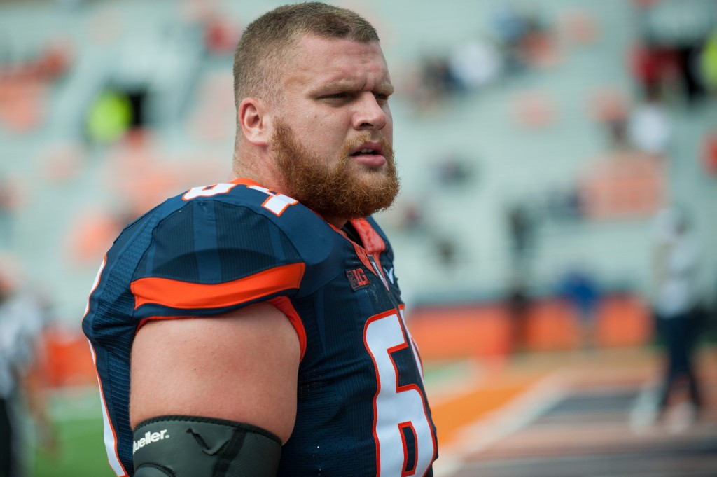 6TH ROUND (221): Illinois offensive lineman Ted Karras. The Associated Press