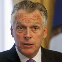 Virginia Gov. Terry McAuliffe has made the restoration of rights of former convicts a priority of his administration.  Bob Brown/Richmond Times-Dispatch via AP