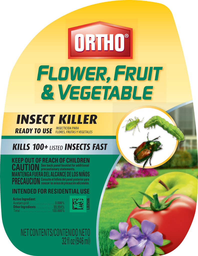 Ortho says it will remove neonicotinoids from three products for roses, flowers, trees and shrubs by 2017 and other products later. Product image from Ortho website