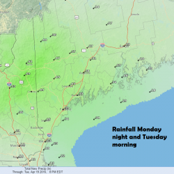 Total Expected Rainfall Through 4-19-16