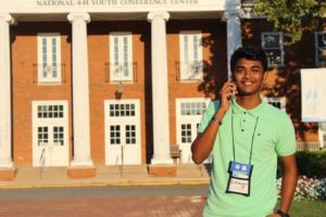 Zakaria Abden, an exchange student living in Windham, spent three days in Washington, D.C. He is visiting Maine through the Kennedy-Lugar Youth Exchange and Study program.