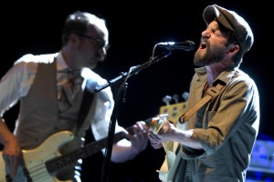 Ray LaMontagne belts a tune during his opening set at the Cumberland County Civic Center in 2014. Gabe Souza/Staff Photographer