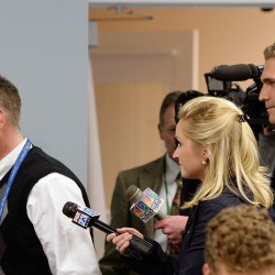 Superintendent Frank Sherburne walks past the media without commenting after leaving the executive session held Monday night by the SAD 6 school board.