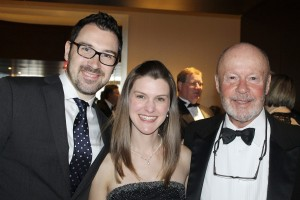 Caroline Koelker, managing director of PORTopera, with her husband, Joshua, director of distribution for Kimpton Hotels, and Jack Riddle, co-founder and board member of PORTopera at the Night at the Opera Gala.