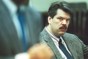 Mark Bechard, in October 1996, listens to remarks in Somerset County Superior Court in Skowhegan. He was found not criminally responsible by reason of mental disease or defect for the January 1996 murder of two Waterville nuns. Bechard was at the Capital Judicial Center Tuesday requesting permission to move to a supervised apartment after the spending the past 20 years under state care. Morning Sentinel file photo/David Leaming