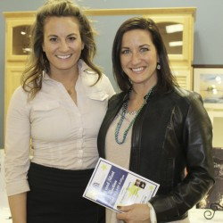 Jennilee Bryan of Two Lights Settlement and Lisa DiBiase, owner of Landing Real Estate.
