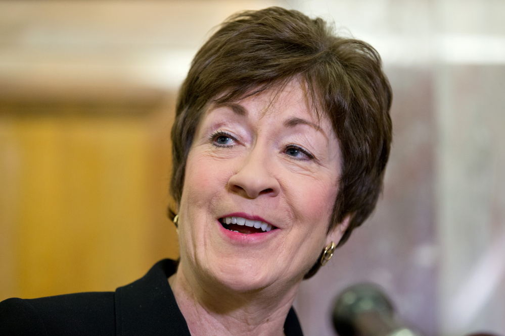 """Asked about a report floating her name as a possible Donald Trump running mate, Sen. Susan Collins said, """"I'm not waiting by my phone."""""""