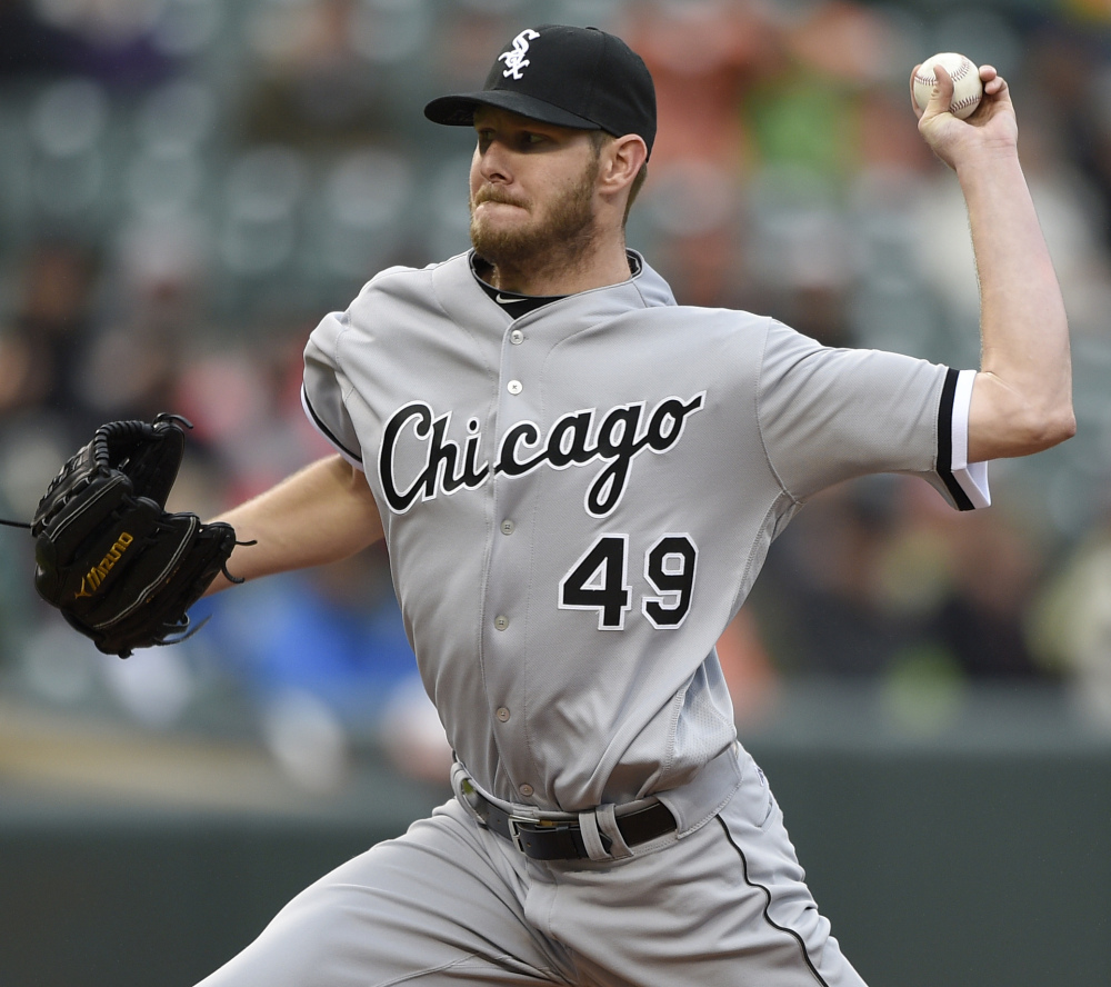 White Sox ace Sale to start Thursday at Cubs