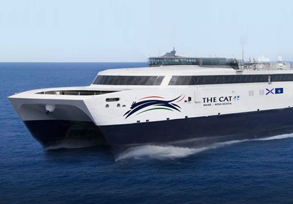 Bay Ferries Ltd. is leasing this high-speed catamaran from the Navy. It can carry up to 866 passengers and 282 cars.