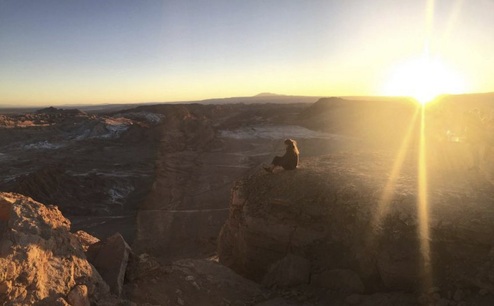 Chloe Williams, a 2015 Waynflete graduate, spends time in northern Chile near the Andes Mountains. Williams was 17 when she left to spend six months there as part of a gap year program.