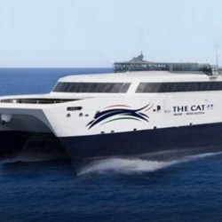 The Cat, pictured in this illustration, will make five-hour trips from Portland to Nova Scotia starting in June.