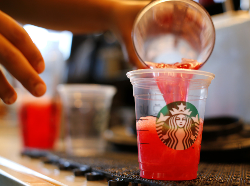 A Chicago woman is seeking $5 million from Starbucks in a class-action suit filed in federal court that claims the world's largest coffee chain puts too much ice in chilled drinks.