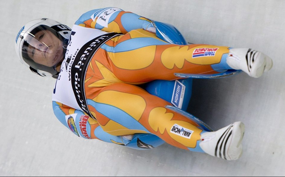 "Augusta native Julia Clukey, shown competing at the 2013 luge World Championships, has been listed on the national ""C"" team for the 2016-17 season. She'll need to win a spot on the ""A"" team next fall to compete on the World Cup tour. (AP file photo)"