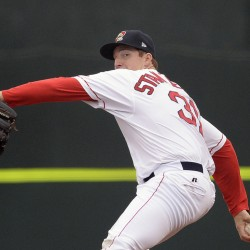 Portland's Teddy Stankiewicz suffered his first loss of the season, allowing eight runs in 3   innings as the Sea Dogs lost 13-2 to the Binghamton Mets on Tuesday at Hadlock Field.