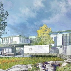 An artist's rendering depicts the new U.S. embassy in Huseby, Norway, just outside Oslo, scheduled for completion in late 2016.