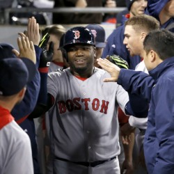 Boston's David Ortiz celebrates his two-run home run off White Sox starter Carlos Rodon in the fifth inning Wednesday night.