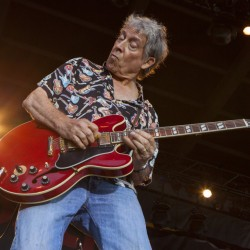 In this Aug. 29, 2013 file photo, Elvin Bishop performs at the Harley-Davidson 110th Anniversary celebration in Milwaukee, Wis.