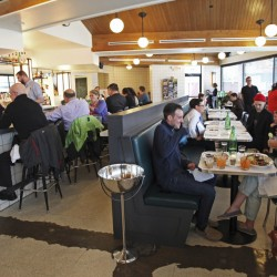 The dining room and bar at Woodford Food & Beverage. Jill Brady/Staff Photographer