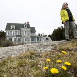 Nancy Prisk is heading up a land conservation effort on a piece of land across from the town beach on the small island of Southport. The town wants to sell the property, minus the beach, which includes a house that belonged to the late artist Ruth Lepper Gardner.