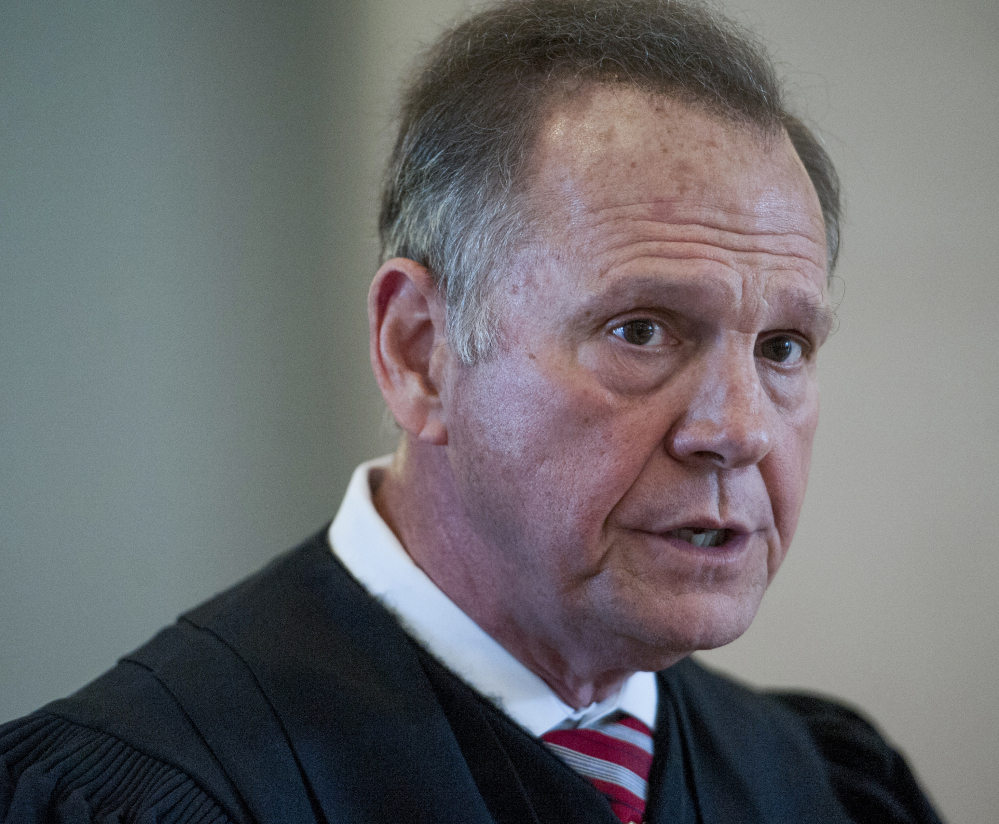 Roy Moore, chief justice of the Alabama Supreme Court, faces six charges of violating judicial ethics.