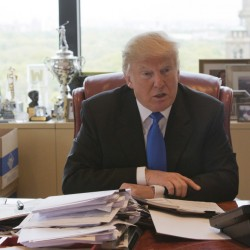 Republican presidential candidate Donald Trump, in an interview in his office at Trump Tower on Tuesday in New York, said he has narrowed the list of possible running mates to five or six.