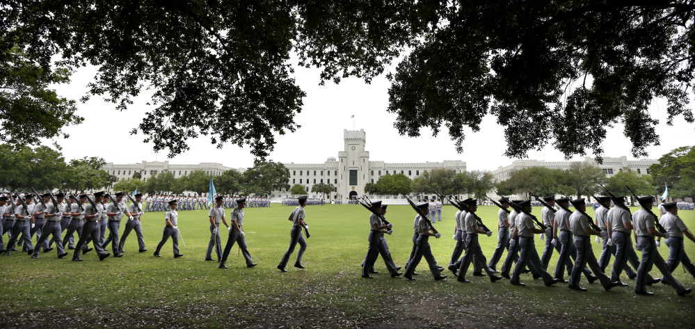 Officials at The Citadel in Charleston, S.C., told a Muslim applicant that wearing a traditional head covering would be inconsistent with their policy of having cadets look similar.