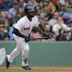 Jackie Bradley Jr., who has batted ninth for most of the season, has a 21-game hitting streak and has driven in 30 runs as part of a deep Red Sox lineup.