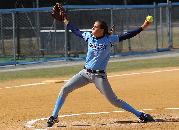 """It's so exciting,"" said South Portland's Erin Bogdanovich, standout pitcher on the UMaine softball team. ""It feels like such an honor to have made it this far."""