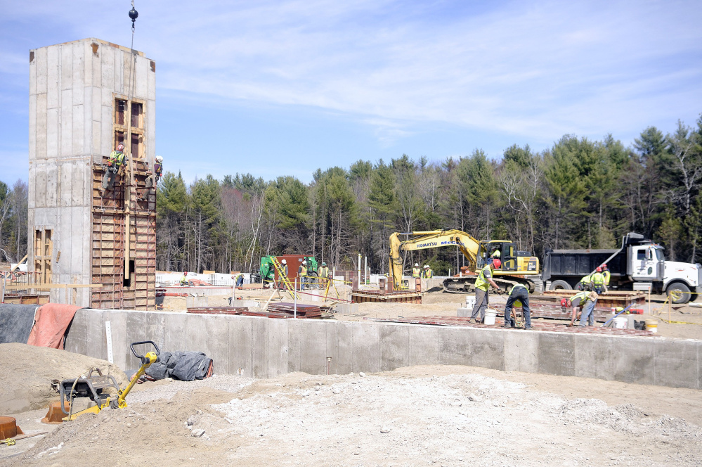 Construction is underway at the new Maine National Guard headquarters in Augusta. Contractors in Maine are concerned about labor shortages, especially among subcontractors. The state has lost about a third of its specialty contractors since 2001, many of whom left following the Great Recession. The state also competes for laborers, who can make twice their hourly rate by working on projects in Massachusetts.  Kennebec Journal file/Andy Molloy