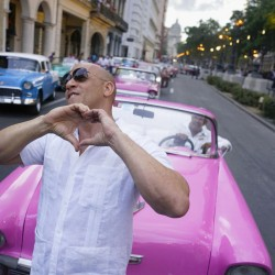 "Actor Vin Diesel shows Cubans the love this month during a Chanel fashion extravaganza in Havana. Many on the island are exuberant about the attention, but others worry that it won't bring a struggling people ""real, concrete benefits."""