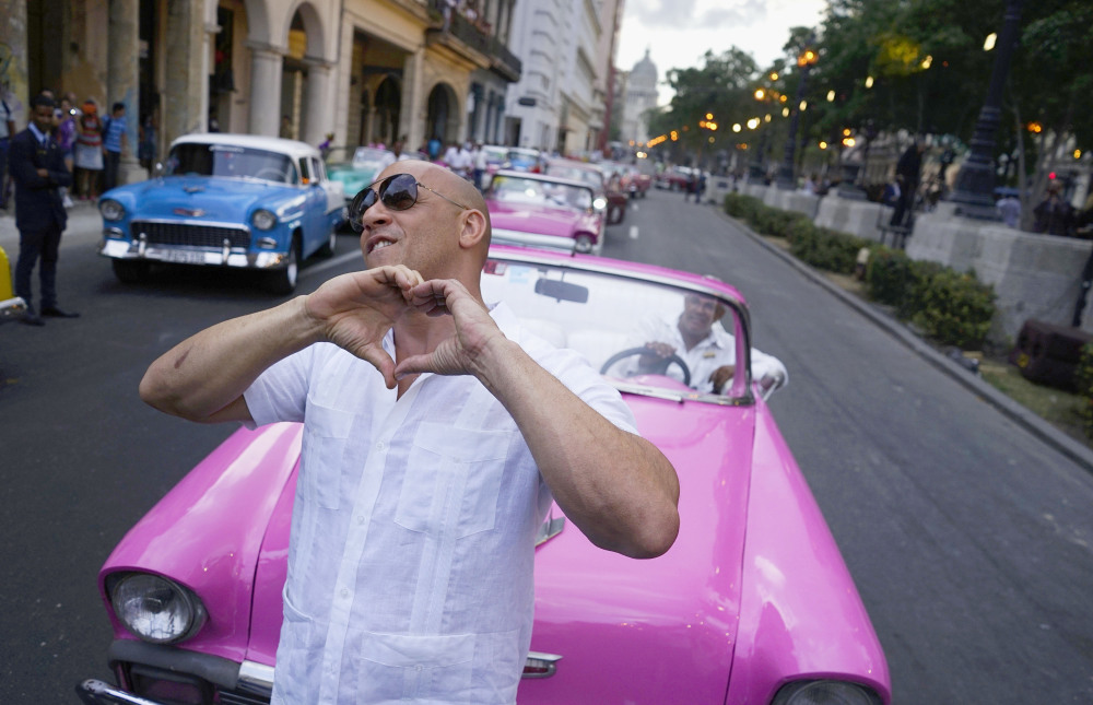 Actor Vin Diesel shows Cubans the love this month during a Chanel fashion extravaganza in Havana. Many on the island are exuberant about the attention, but others worry that it won't bring a struggling people