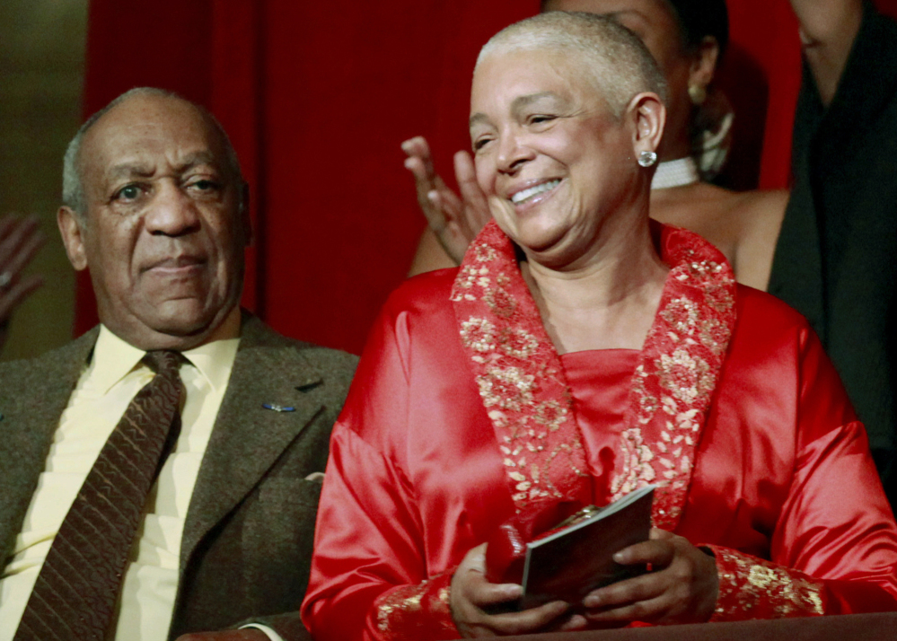 Comedian Bill Cosby and his wife, Camille, appear at the John F. Kennedy Center for Performing Arts in Washington before he received the Mark Twain Prize for American Humor in 2009.  The Associated Press