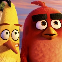 """Chuck, voiced by Josh Gad, left, and Red, voiced by Jason Sudeikis, in a scene from """"The Angry Birds Movie."""""""