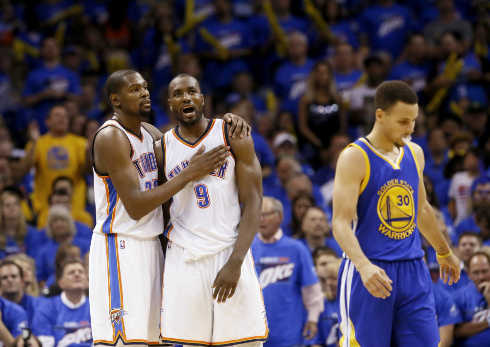 Thunder rout Warriors to take 2-1 lead - Portland Press Herald