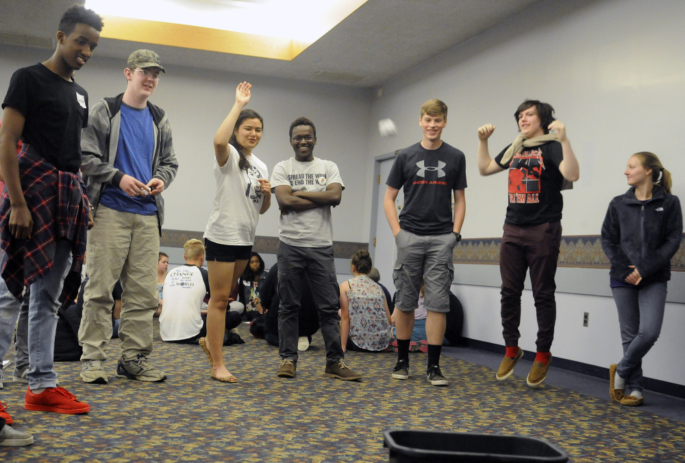 High school students discussed stereotypes and civil rights but also found time for some games in Augusta on Monday.