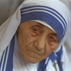 Mother Teresa, head of Missionaries of Charity, in a 1993 photo taken in New Delhi, India. A collection of previously unreleased writings by Mother Teresa is coming out in August 2016, weeks before the late Nobel Peace Prize winner is to be canonized.