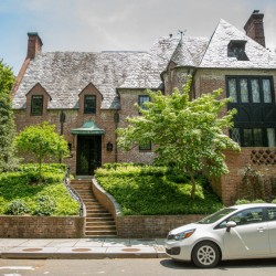 The nine-bedroom mansion that the Obamas are rumored to be considering is in one of Washington's poshest neighborhoods. It has eight and a half bathrooms.