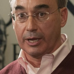 Bangor, Maine--11-04-2014-- Bruce Poliquin speaks to his supports gathered at Dysart's on Tuesday evening.   Kevin Bennett